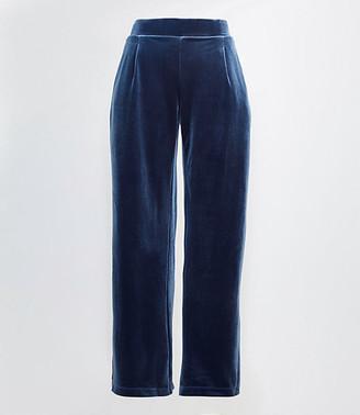 LOFT Velvet Pull On Wide Leg Pants