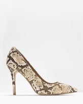 White House Black Market Olivia Leather Exotic Print Pumps