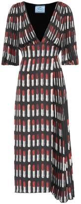 Prada Lipstick crepe dress