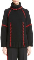 Alexander McQueen Women's Stitch Detail Cashmere Turtleneck Sweater