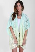 Goddis Amelia Knit Kimono In Lemon Drop