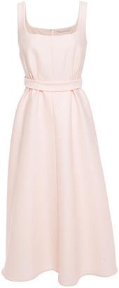 Emilia Wickstead Shelly Belted Cloque Midi Dress
