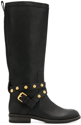 See by Chloe studded knee high boots