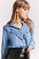 Forever 21 Ruffled Chambray Shirt