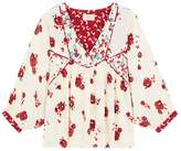 BA&SH Bright Floral Print Tunic Blouse