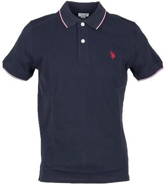 U.S. Polo Assn. Midnight Blue Pique Cotton Men's Polo Shirt