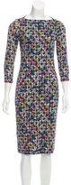 Erdem Printed Bodycon Dress