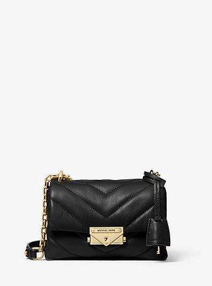 MICHAEL Michael Kors MK Cece Extra-Small Quilted Leather Crossbody Bag - Black - Michael Kors