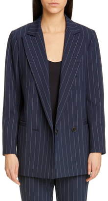 Ganni Stripe Suiting Blazer
