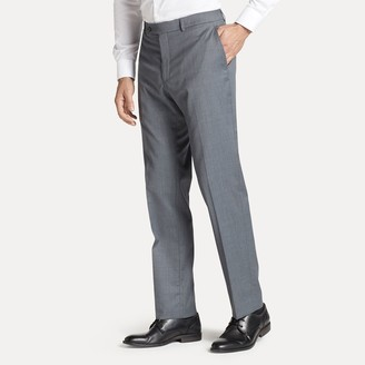 Tommy Hilfiger Regular Fit Suit Pant In Solid Grey