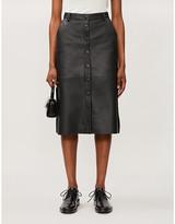 Remain Birger Christensen Bellis high-waist leather skirt