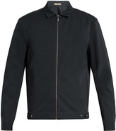 Bottega Veneta Intrecciato-trimmed zip-through jacket