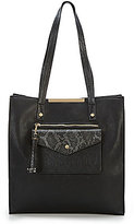 Kate Landry Posh Tasseled Snake-Print Pocket Tote