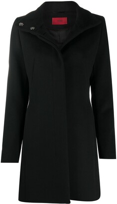 HUGO BOSS Single-Breasted Button-Up Coat