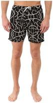 Scotch & Soda Medium Length All Over Printed Swim Shorts with Contrast Waistband