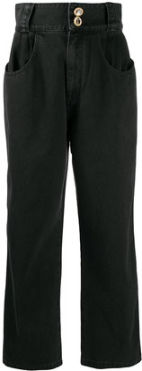 Alessandra Rich High Rise Wide Fit Jeans