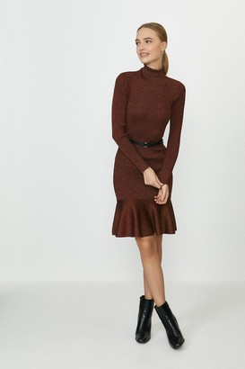Coast Knitted Glitter Roll Neck Dress