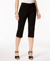 Alfred Dunner Petite Lace It Up Capri Pants