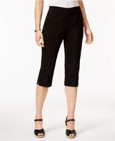 Alfred Dunner Petite Lace It Up Split-Hem Capri Pants