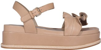 Elvio Zanon Bow Platform Sandals