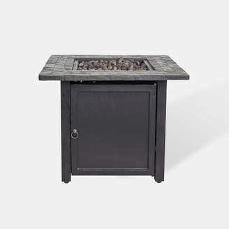 "Threshold Rocksprings 30"" Wide Square Fire Table - Brown - ThresholdTM"