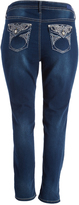 Hydraulic Slate Blue Emma Nefertiti Embellished Back Skinny Jeans - Plus