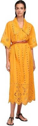 Vita Kin Eyelet Lace Linen Midi Dress