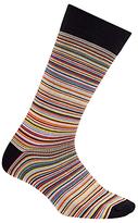 Paul Smith Signature Stripe Cotton Socks, One Size, Orange