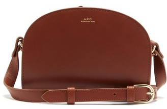 A.P.C. Half-moon Mini Smooth-leather Cross-body Bag - Womens - Tan