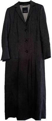 Max Mara 's Blue Linen Trench Coat for Women