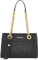 Valentino By Mario Valentino Kali Perforated Chain Tote Bag, Black