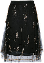 MSGM layered sequined skirt