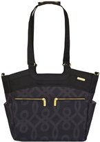JJ Cole Camber Diaper Bag - Black and Gold