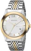 Gucci Men's YA126409 timeless Steel and Yellow PVD Dial Watch