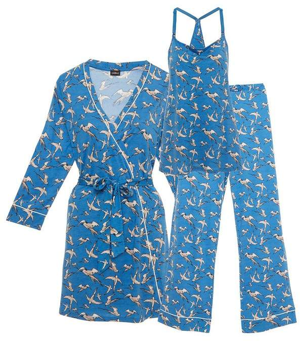 Bella Maternity Printed 3-Piece Pajama Set