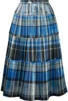 Toga foil pleated skirt
