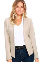 Alythea Moment's Notice Light Taupe Cropped Blazer