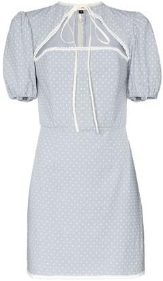Masterpeace Cutout Polka-Dot Mini Dress