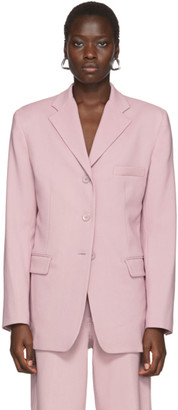 Sies Marjan Pink Wool Canvas Molly Oversized Blazer