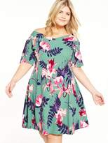 Junarose CURVE Floral Skater Dress