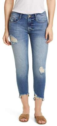 Frame Le Garcon Distressed Chewed Hem Crop Jeans (Newport)