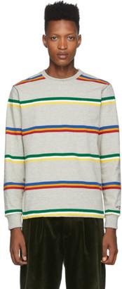 Noah NYC Grey Triple Stripe Long Sleeve T-Shirt