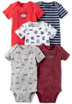 Carter's 5-Pk. Cotton Sports Bodysuits, Baby Boys (0-24 months)