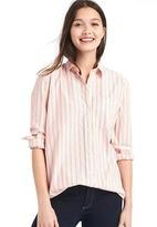 Gap Oversize boyfriend colorblock pinstripe shirt