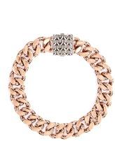 John Hardy Silver bronze curb chain bracelet