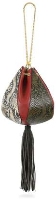 THE VOLON The New Old Things Cindy Snake-Embossed Leather Pouch