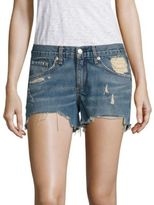 Rag & Bone Distressed Cut-Off Denim Shorts/Winnie