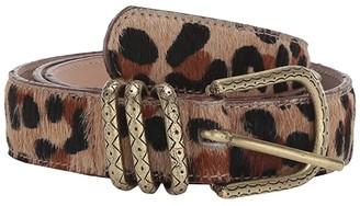 Leather Rock Erin Belt (Hair Jaguar) Women's Belts