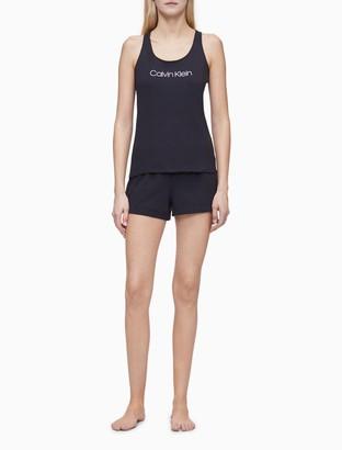 Calvin Klein Logo Tank + Shorts 2-Piece Sleep Set