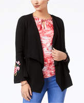 Thalia Sodi Embroidered Open-Front Cardigan, Created for Macy's